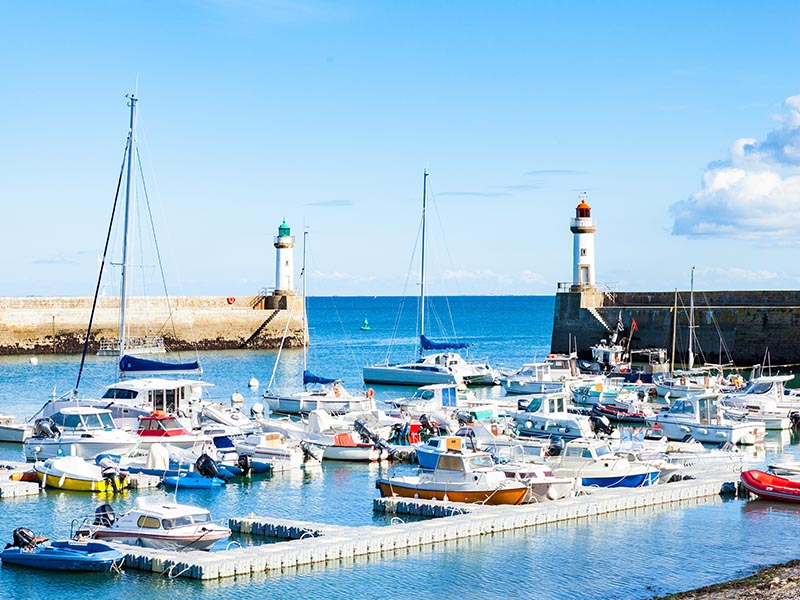 Port de la Belle Ile en Bretagne, en été