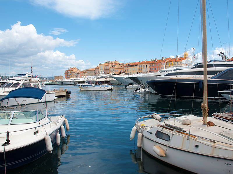 Port de Saint-Tropez en été