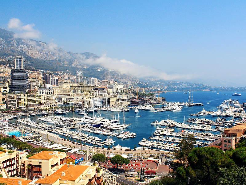 Vue sur le port de Monaco