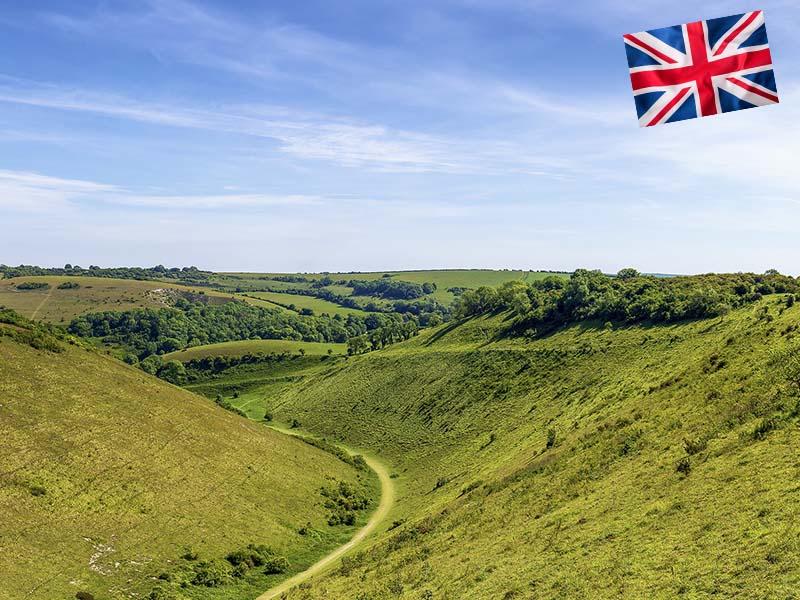 Campagne du sud de l'Angleterre