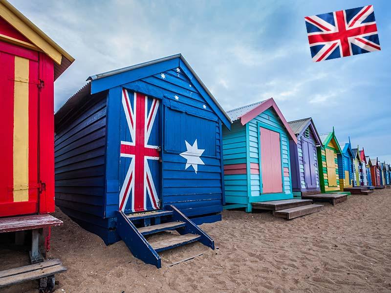 Les cabanes de la plage Brighton en Anlgeterre