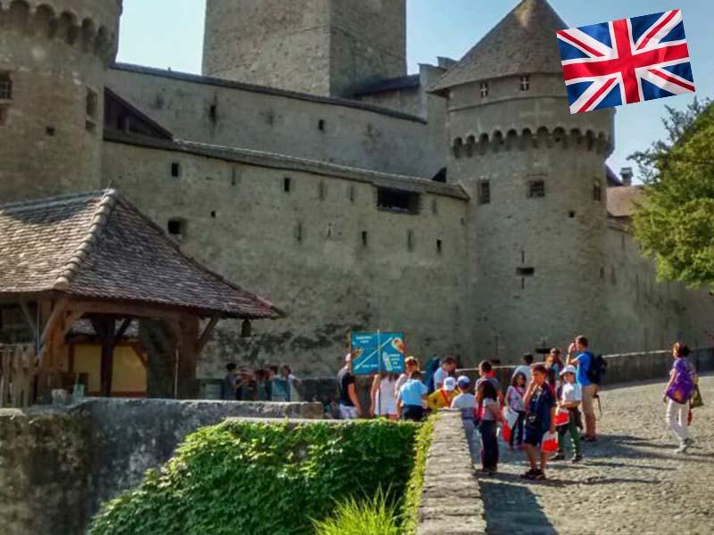 Visite du château de Chillon durant le stage linguistique pour apprendre l'Anglais en Suisse