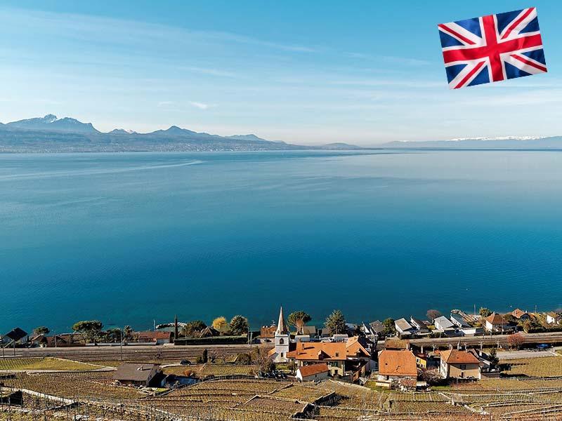 Visite du Lac Leman en Suisse durant le stage linguistique d'anglais