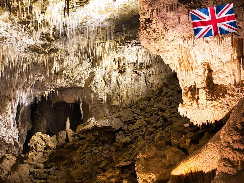 Visite des grottes en Suisses pendant le stage linguistique d'anglais