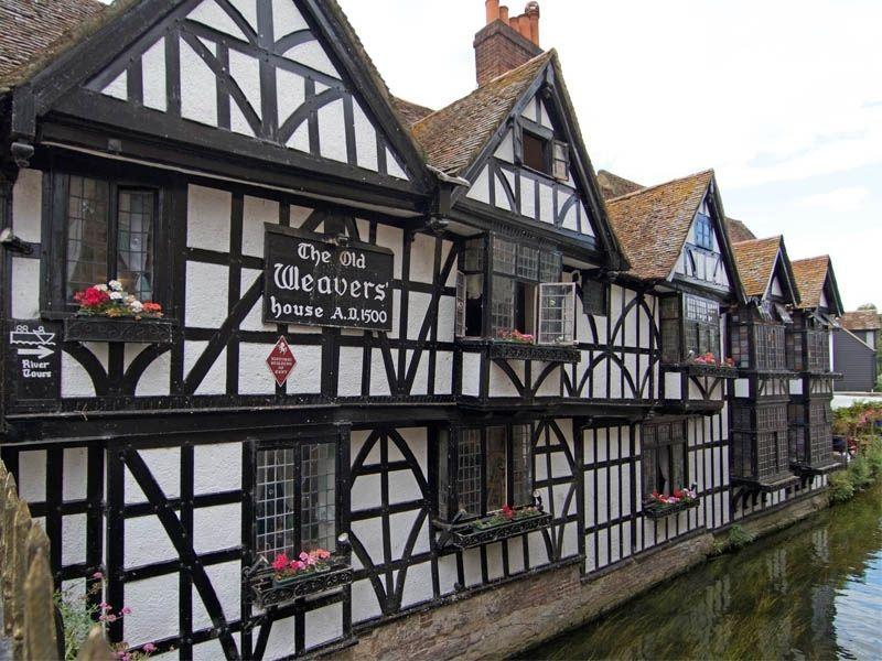 Maisons historiques de Canterbury en Angleterre