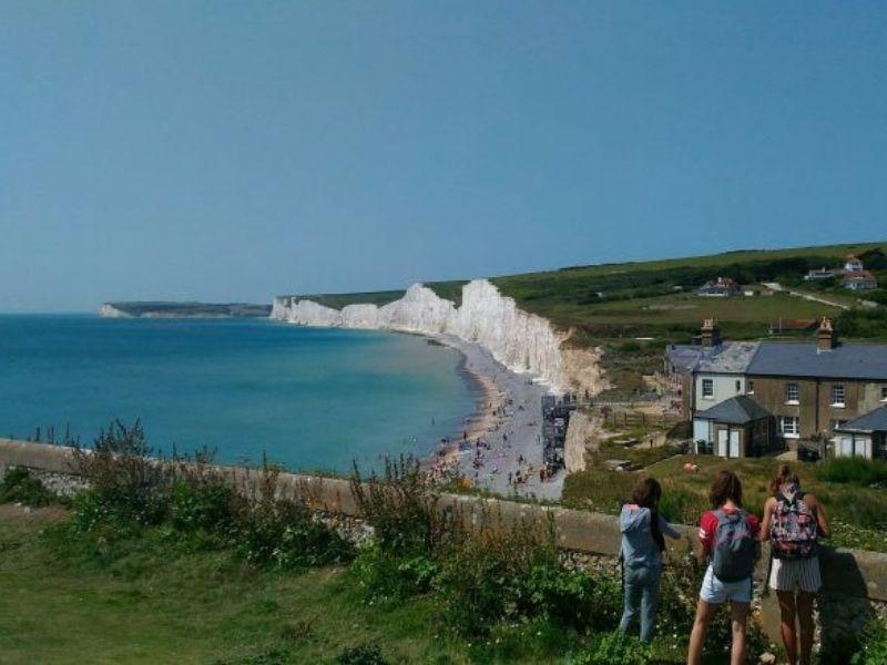 Visite des falaises d'Angleterre en séjour linguistique à Brighton