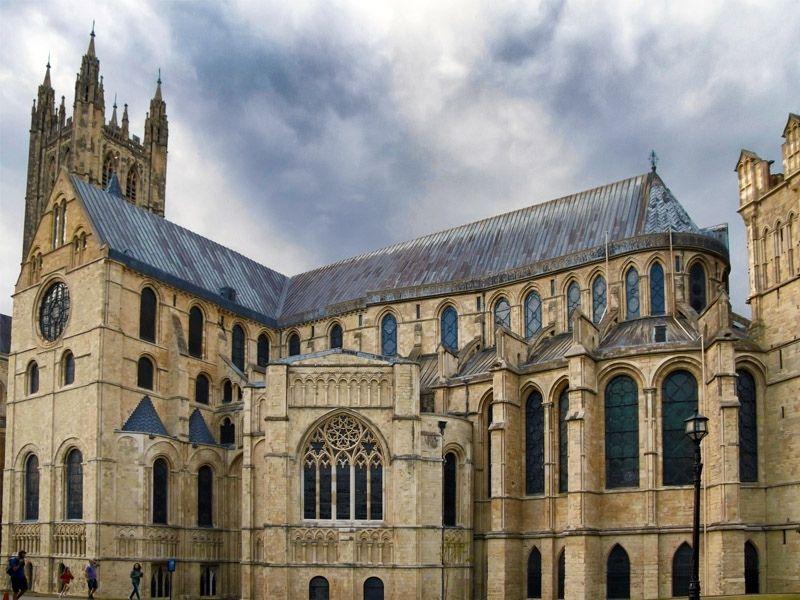 Cathédrale de Cantorbéry en Angleterre