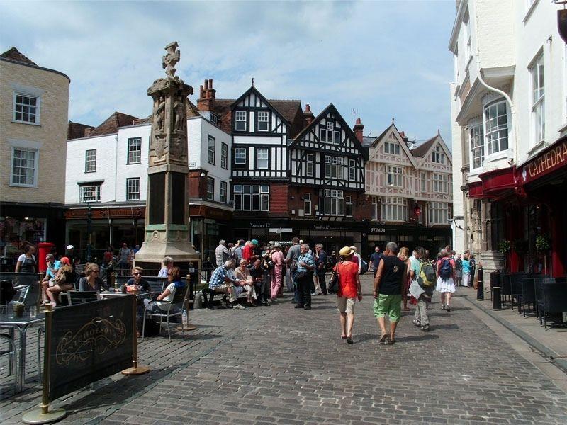 Rue de Canterbury en Angleterre