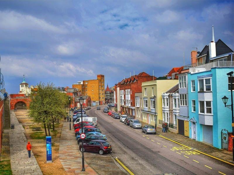 Les rues de Portsmouth en Angleterre