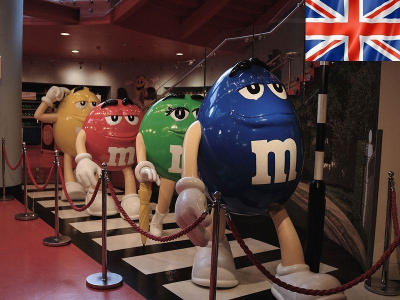 Le magasin de M&M's à Londres en Angleterre