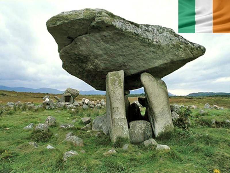 Un champs celtique en Irlande