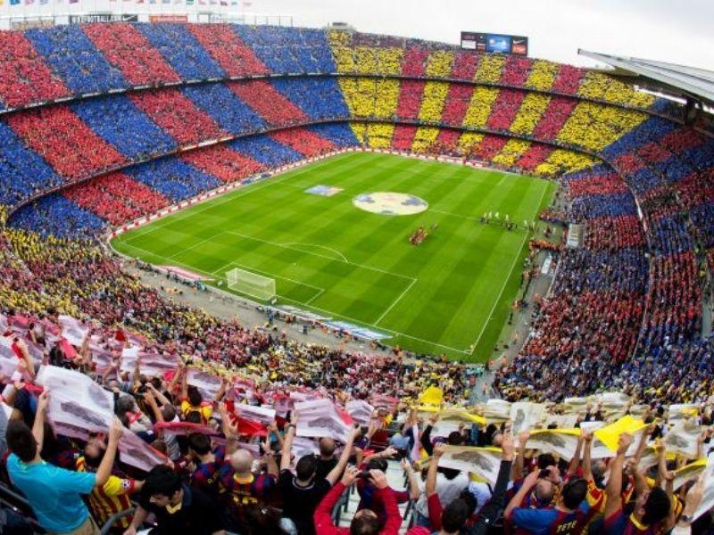 Visite du stade de Barcelone durant le séjour linguistique en Espagne