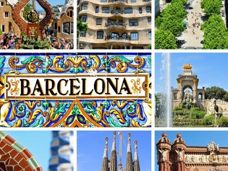 Ville de Barcelone en été