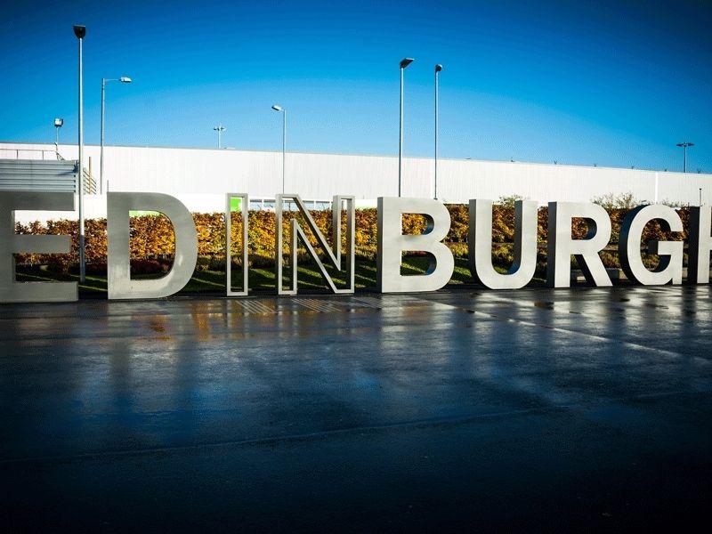 Panneau de la ville d'Edimbourg en Ecosse