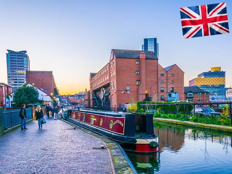 Ville de Birmingham en Angleterre