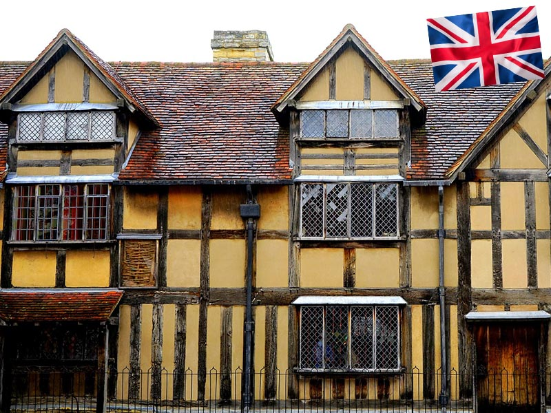 La maison natale de Shakespeare en Angleterre