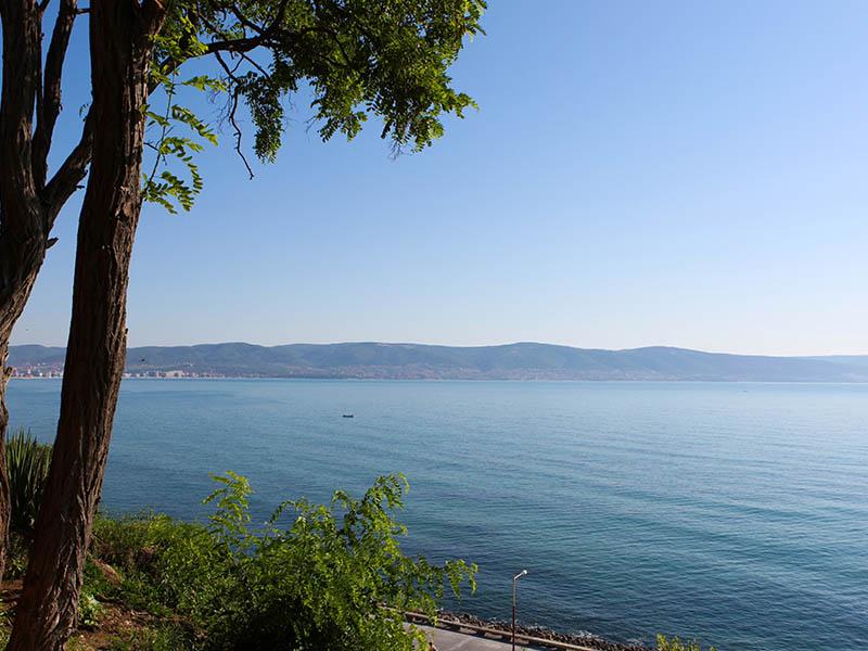 Vue sur la mer en colonie de vacances itinérante été