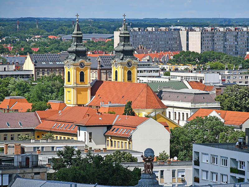 Paysage vu en colonie de vacances itinérante en Roumanie, Hongrie, Bulgarie