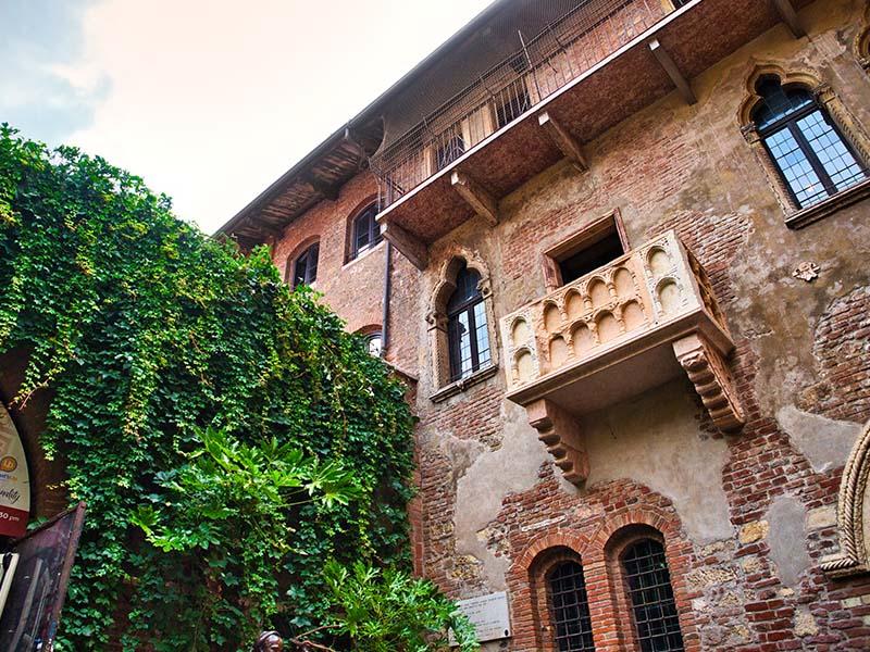 Maison de Juliette à Vérone en Italie aperçue en colonie de vacances cet été
