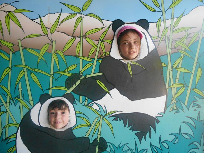 Enfants déguisés en panda en colonie de vacances cet été