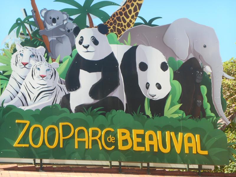 Entrée du zooparc de beauval visité par les enfants en colo