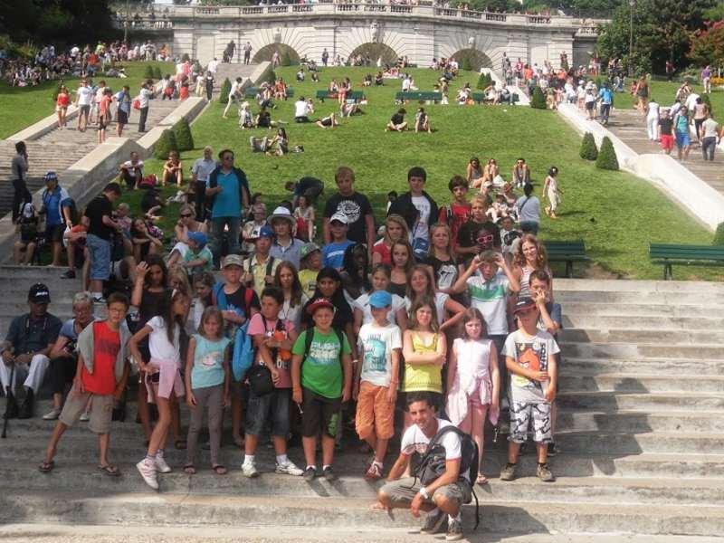 Enfants en colo au parc du puy du fou