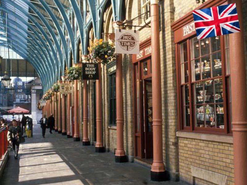 Le marché couvert de Londres en Angleterre
