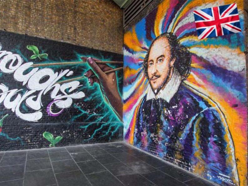 Street art sur les murs de Londres en Angleterre