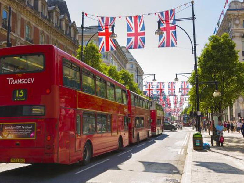 Les rues de Londres en été
