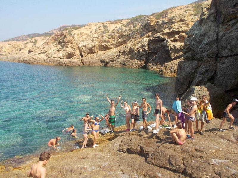 Ados en colonie de vacances en Corse