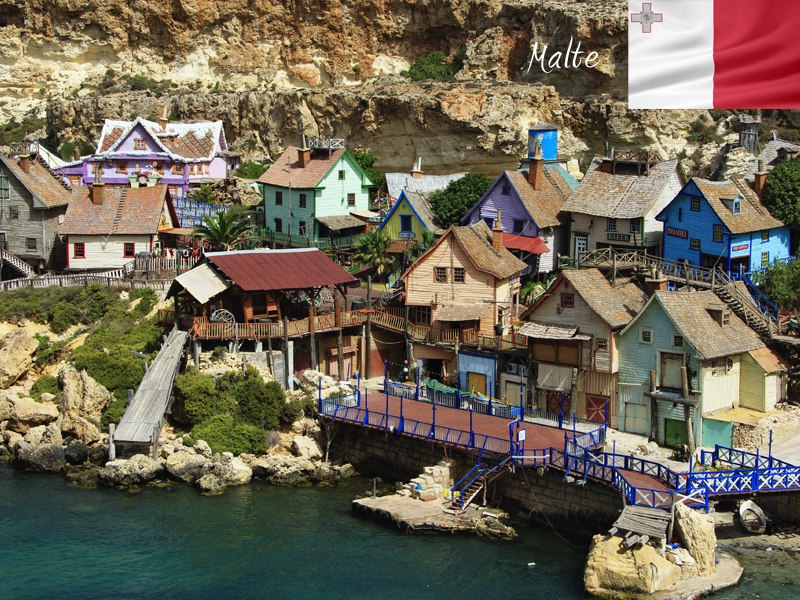Maisons pittoresques à Malte
