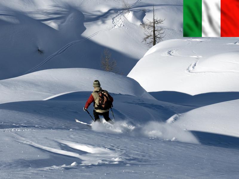 Enfant skiant en Italie
