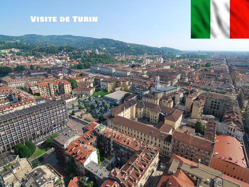 Vue sur la ville de Turin en Italie