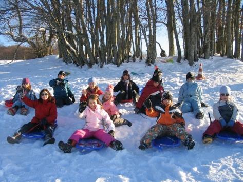 Colonie de vacances neige