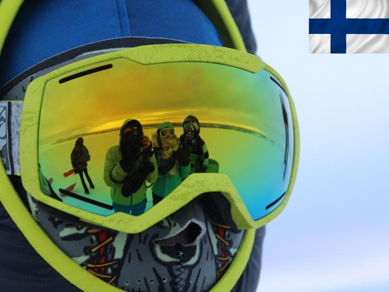 Portrait d'un skieur en Laponie