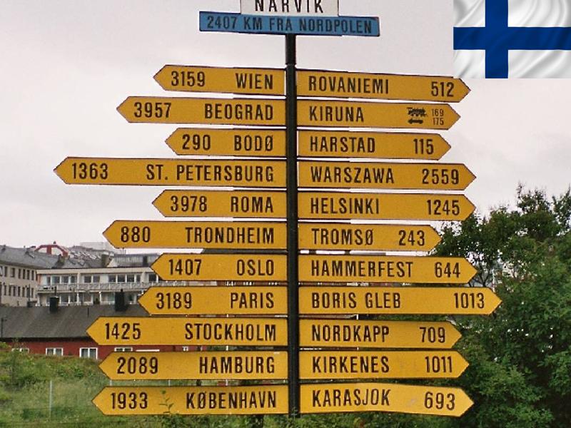 Panneaux de signalisation en Laponie