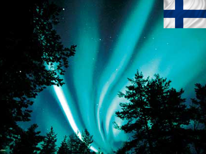 Aurores boréales en Laponie en colonie de vacances