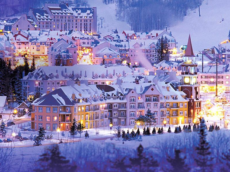 Quebec au Canada sous la neige