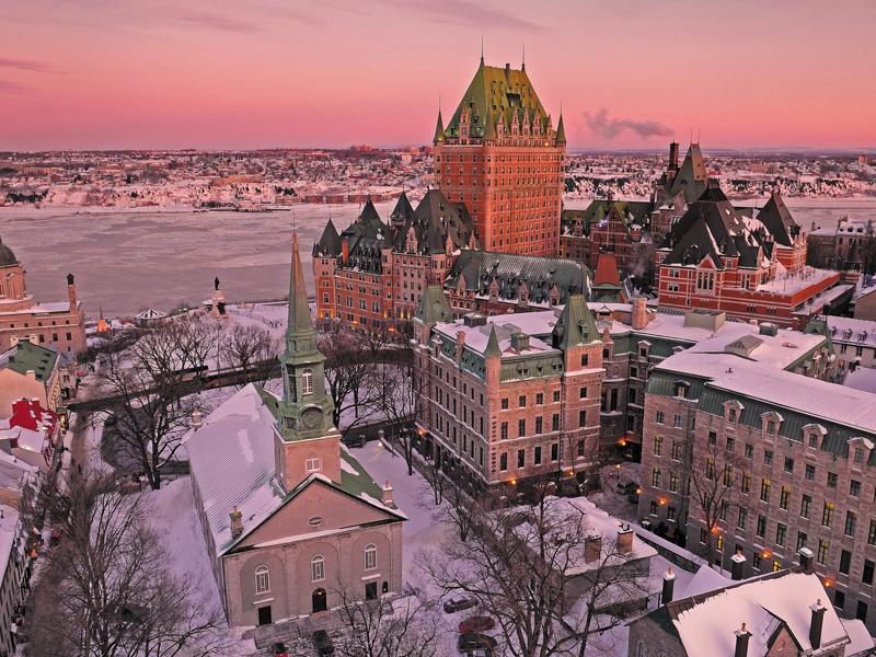 Vue sur Quebec au Canada