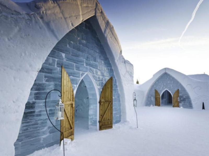 Hôtel de glace parc Jacques Quartier