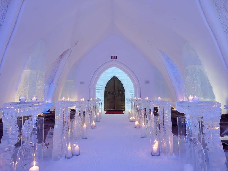 Hotel de glace au Canada