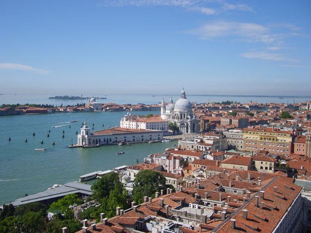 Vue sur la lagune de Venise en colonie de vacances d'hiver
