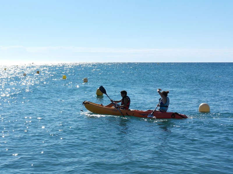 Activité Kayak en colonie de vacances en Espagne