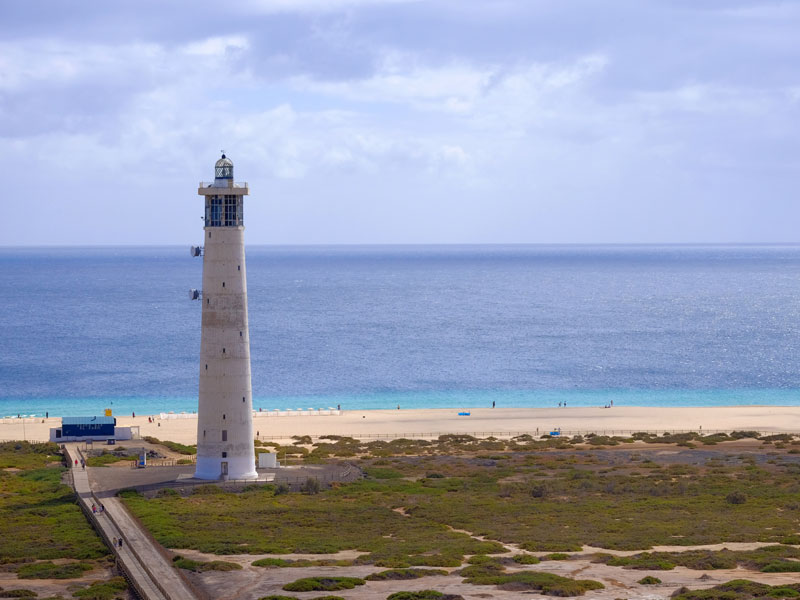 Phare de Jandia Playa en Espagne à Fuerte Ventura