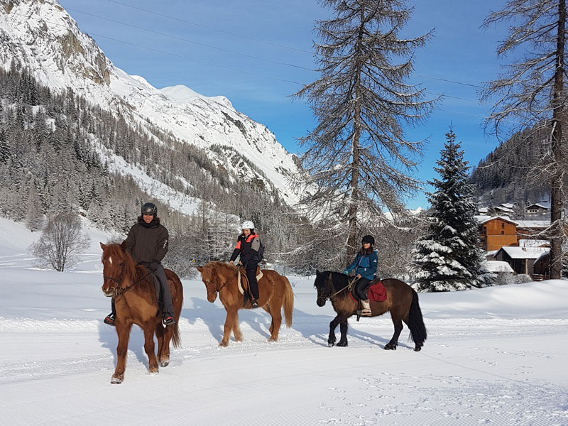 Enfants pratiquant le ski joering en colonie de vacances
