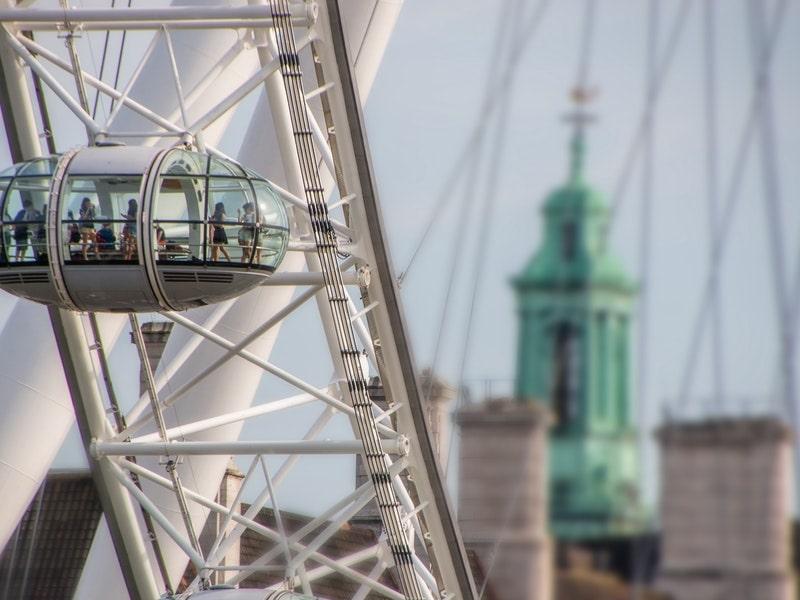 Vue sur le big eye de Londres lors d'une colonie de vacances
