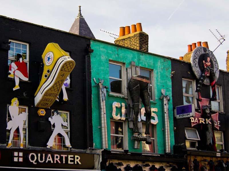 Mur du quartier de Camden lors d'une colonie de vacances à Londres