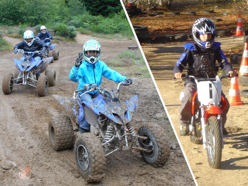 Enfants en quad et à moto