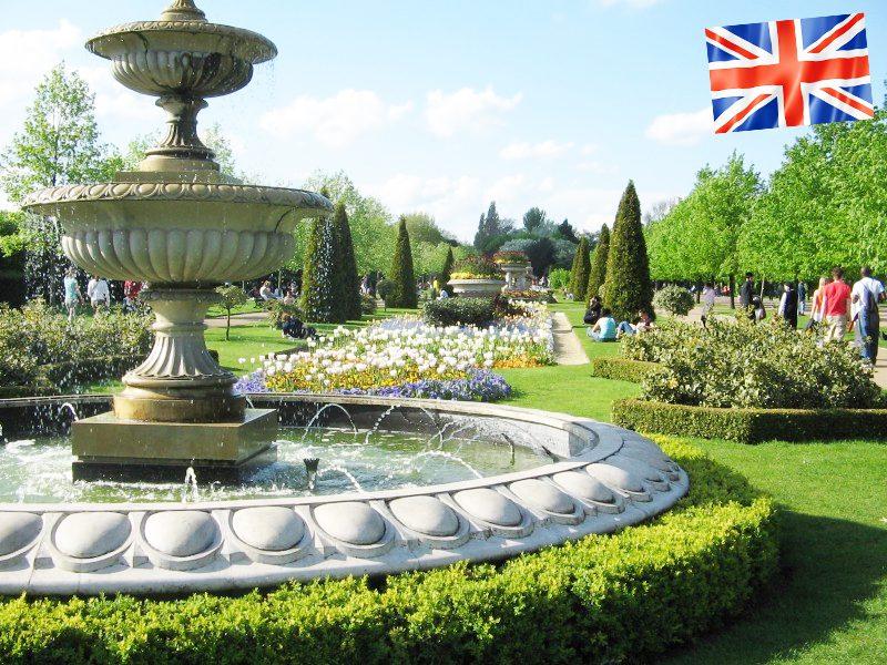 Vue sur la fontaine de Regent's Park à Londres