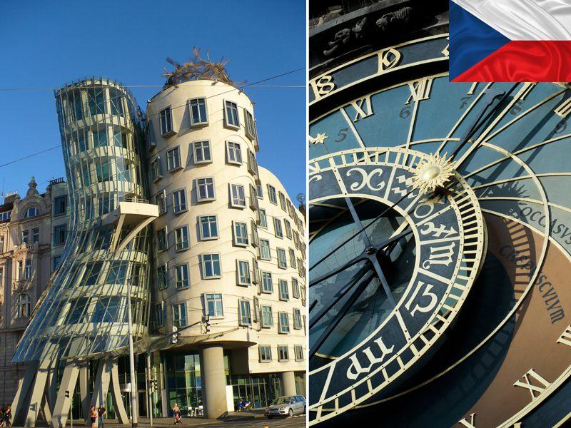 Horloge astronomique et maison dansante de Prague